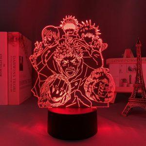 TEAM GOJO +  LED ANIME LAMP  (JUJUTSU KAISEN) Otaku0705 TOUCH +(REMOTE Official Anime Light Lamp Merch