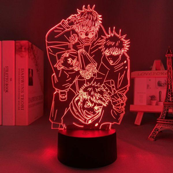 TEAM GOJO ++  LED ANIME LAMP  (JUJUTSU KAISEN) Otaku0705 TOUCH +(REMOTE Official Anime Light Lamp Merch