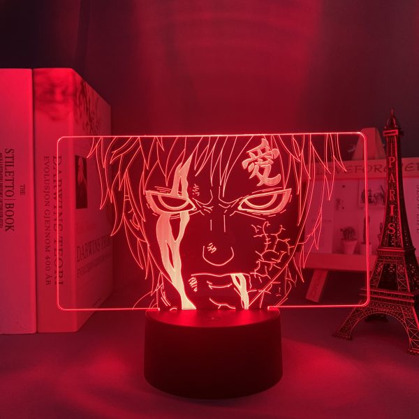 GAARA LED ANIME LAMP (NARUTO) Otaku0705 TOUCH +(REMOTE) Official Anime Light Lamp Merch