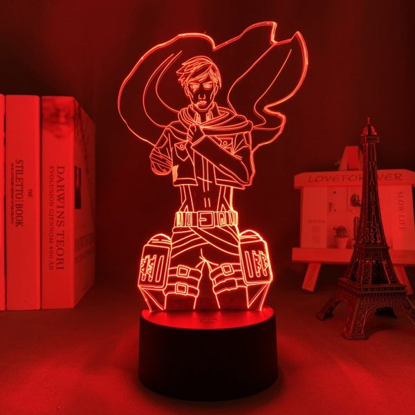 COMMANDER ERWIN LED ANIME LAMP (ATTACK ON TITAN) Otaku0705 TOUCH Official Anime Light Lamp Merch