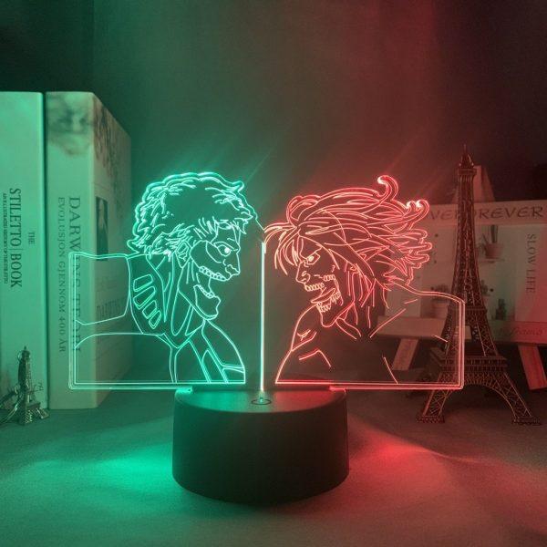 ARMOR VS ATTACK TITAN LED ANIME LAMP (ATTACK ON TITAN) Otaku0705 TOUCH Official Anime Light Lamp Merch