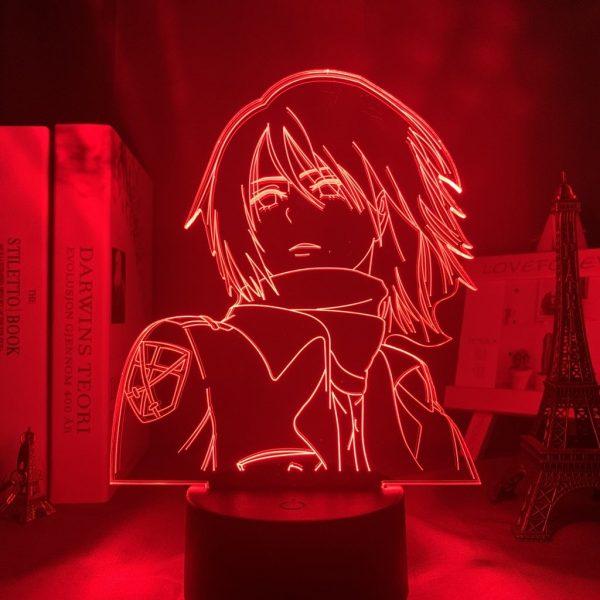 MIKASA POSE LED ANIME LAMP (ATTACK ON TITAN) Otaku0705 TOUCH Official Anime Light Lamp Merch