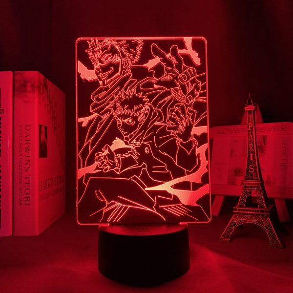YUJI AND SUKUNA LED ANIME LAMP (JUJUTSU KAISEN) Otaku0705 TOUCH +(REMOTE) Official Anime Light Lamp Merch