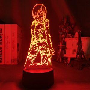 MIKASA ACKERMAN LED ANIME LAMP (ATTACK ON TITAN) Otaku0705 TOUCH Official Anime Light Lamp Merch
