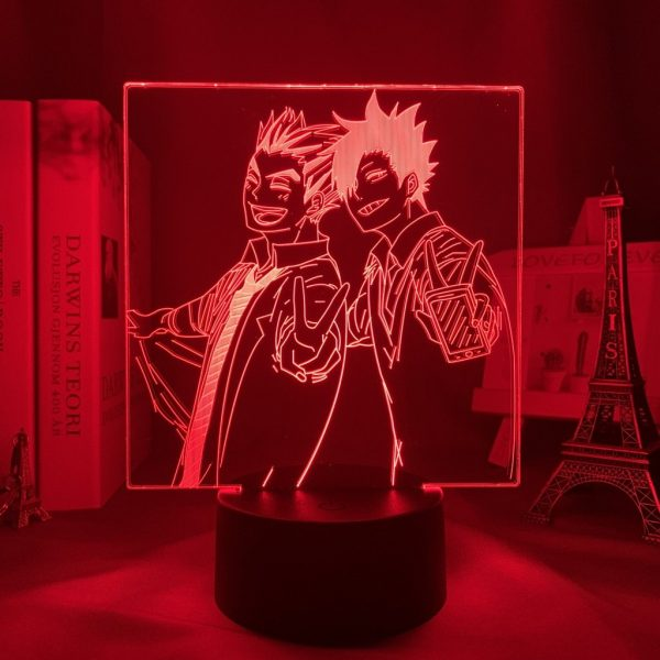 KURO AND BOKUTO LED ANIME LAMP (HAIKYUU!!) Otaku0705 TOUCH +(REMOTE) Official Anime Light Lamp Merch