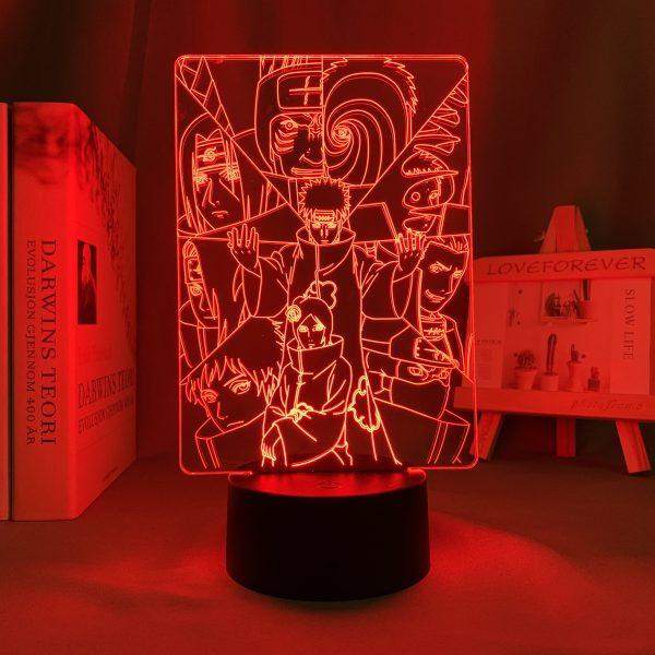 AKATSUKI+ LED ANIME LAMP (NARUTO) Otaku0705 TOUCH Official Anime Light Lamp Merch