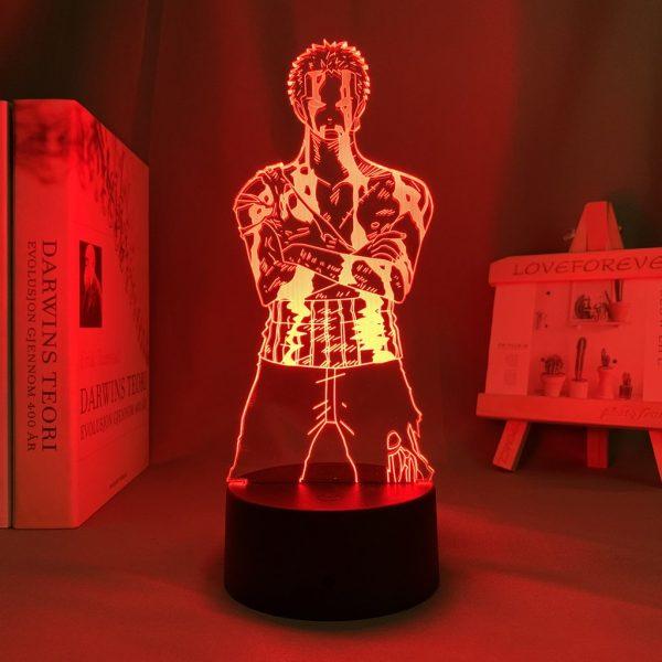 BLEEDING ZORO LED ANIME LAMP (ONE PIECE) Otaku0705 TOUCH Official Anime Light Lamp Merch