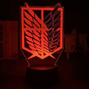 AOT LOGO LED ANIME LAMP (ATTACK ON TITAN) Otaku0705 TOUCH Official Anime Light Lamp Merch