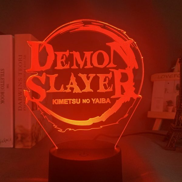 DS LOGO LED ANIME LAMP (DEMON SLAYER) Otaku0705 TOUCH +(REMOTE) Official Anime Light Lamp Merch