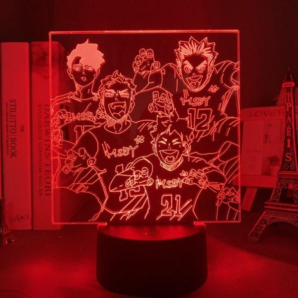 MSBY TEAM LED ANIME LAMP (HAIKYUU!!) Otaku0705 TOUCH +(REMOTE) Official Anime Light Lamp Merch