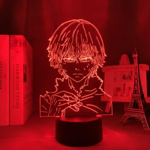 KANEKIS STARE ANIME LAMP (TOKYO GHOUL) Otaku0705 TOUCH +(REMOTE) Official Anime Light Lamp Merch