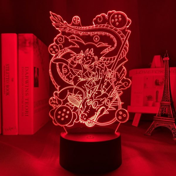 SON GOKU AND DRAGON LED ANIME LAMP (DBZ) Otaku0705 TOUCH Official Anime Light Lamp Merch