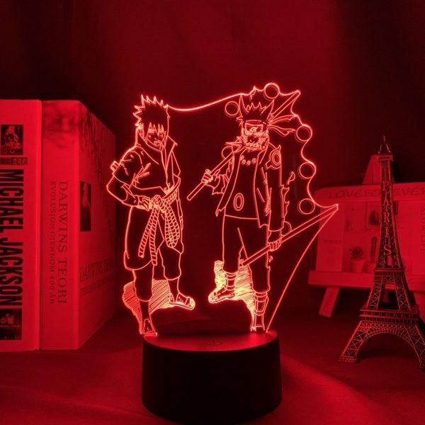 NARUTO AND SASUKE + LED ANIME LAMP (NARUTO) Otaku0705 TOUCH Official Anime Light Lamp Merch