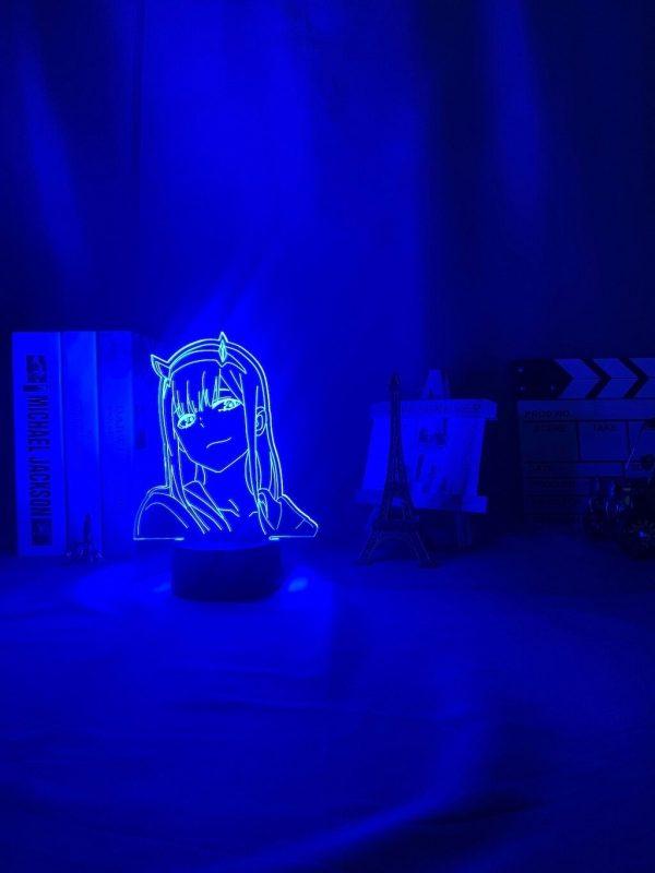 anime 3 d lamp zero two figure nightlight description 2 - Anime 3D lamp