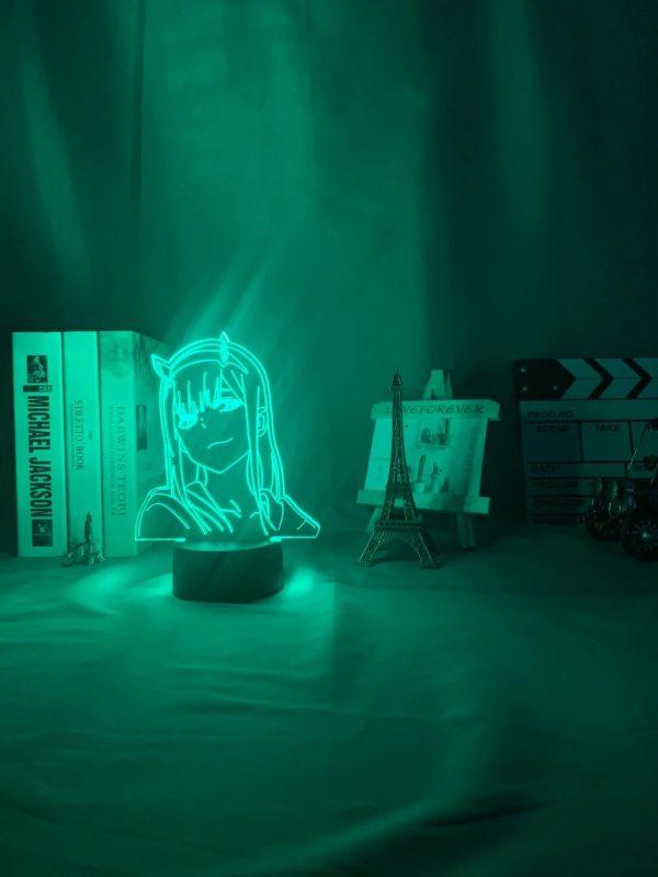 anime 3 d lamp zero two figure nightlight description 3 - Anime 3D lamp