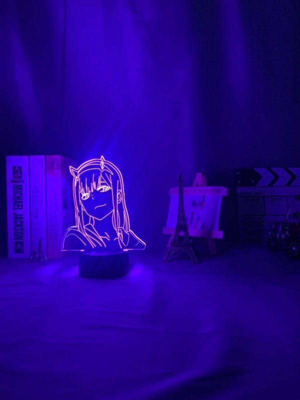 anime 3 d lamp zero two figure nightlight description 4 - Anime 3D lamp