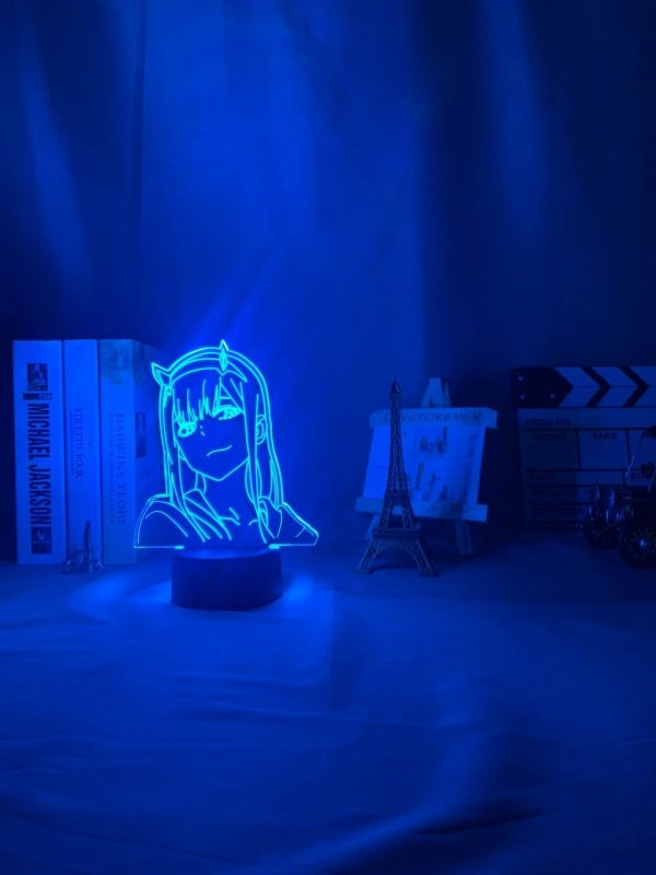 anime 3 d lamp zero two figure nightlight description 5 - Anime 3D lamp