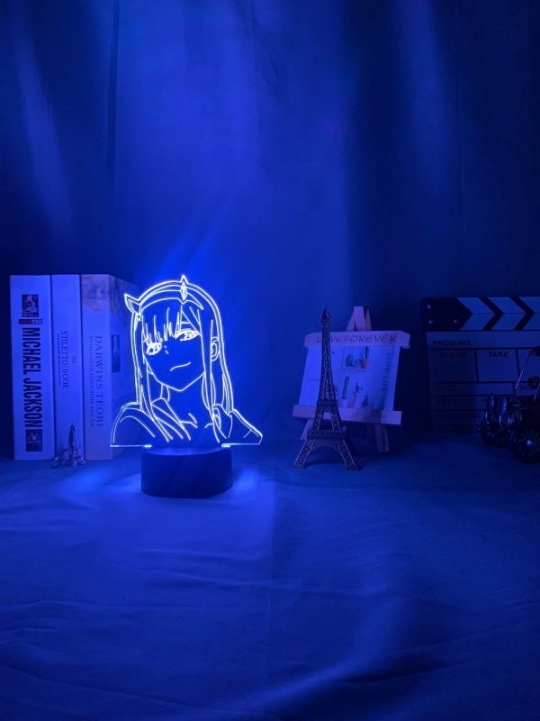 anime 3 d lamp zero two figure nightlight description 6 - Anime 3D lamp