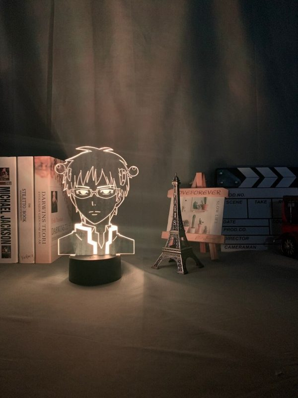 anime light the disastrous life of saiki description 5 - Anime 3D lamp