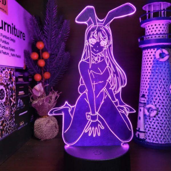 WAIFU MAI SAKURAJIMA LED ANIME LAMP (RASCAL DOES NOT DREAM OF A BUNNY GIRL SENPAI) Otaku0705 TOUCH Official Anime Light Lamp Merch