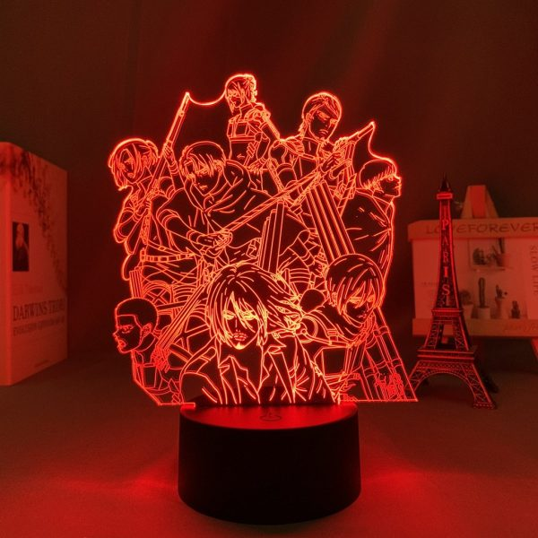 AOT S4 LED ANIME LAMP (ATTACK ON TITAN) Otaku0705 TOUCH +(REMOTE) Official Anime Light Lamp Merch