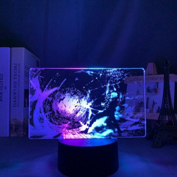 GOJO PURPLE LED ANIME LIGHT (JUJUTSU KAISEN) Otaku0705 TOUCH X2 TONE Official Anime Light Lamp Merch
