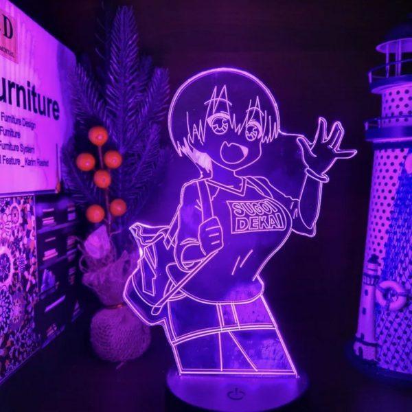 WAIFU UZAKI-CHAN LED ANIME LAMP (UZAKI CHAN WANTS TO HANG OUT) Otaku0705 TOUCH +(REMOTE) Official Anime Light Lamp Merch
