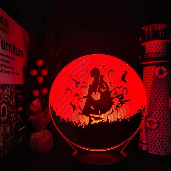 img 0 Naruto Itachi Pain Gaara Neji Jiraiya 3D Led Illusion Nightlights Anime Lamp Naruto Shippuden Anime Led - Anime 3D lamp