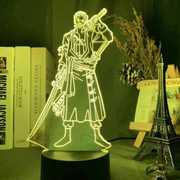 RORONOA ZORO LED ANIME LAMP (ONE PIECE) Otaku0705 7 Colours / TOUCH Official Anime Light Lamp Merch