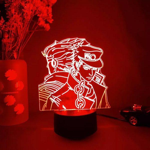 img 1 3D Anime Lamp JoJo s Bizarre Adventure JoJo Silhouette Laser Engraved Upward Lighting Novelty Gift Night.jpg .webp - Anime 3D lamp