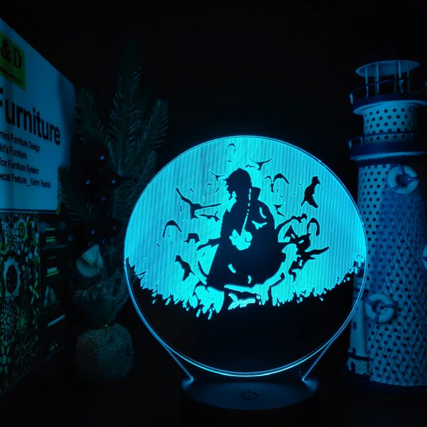 ITACHIX LED ANIME LAMP (NARUTO) Otaku0705 TOUCH +(REMOTE) Official Anime Light Lamp Merch