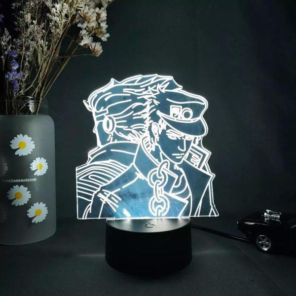 img 2 3D Anime Lamp JoJo s Bizarre Adventure JoJo Silhouette Laser Engraved Upward Lighting Novelty Gift Night.jpg .webp - Anime 3D lamp