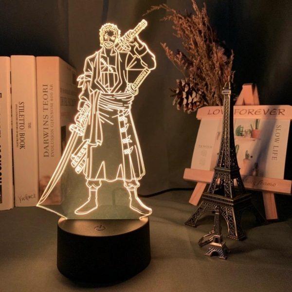 img 2 Roronoa Zoro Figure Led Night Light for Kids Bedroom Decoration Japanese Anime One Piece Nightlight Gift - Anime 3D lamp