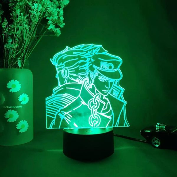 DIO X JOTARO LED ANIME LAMP (JOJO'S BIZARRE ADVENTURE) Otaku0705 TOUCH +(REMOTE Official Anime Light Lamp Merch