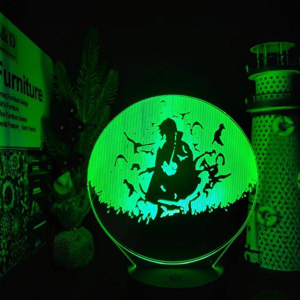 img 3 Naruto Itachi Pain Gaara Neji Jiraiya 3D Led Illusion Nightlights Anime Lamp Naruto Shippuden Anime Led - Anime 3D lamp