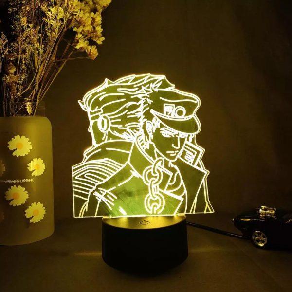 img 5 3D Anime Lamp JoJo s Bizarre Adventure JoJo Silhouette Laser Engraved Upward Lighting Novelty Gift Night.jpg .webp - Anime 3D lamp