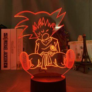 SLEEPY SON GOKU LED ANIME LAMP (DBZ) Otaku0705 TOUCH + (REMOTE) Official Anime Light Lamp Merch