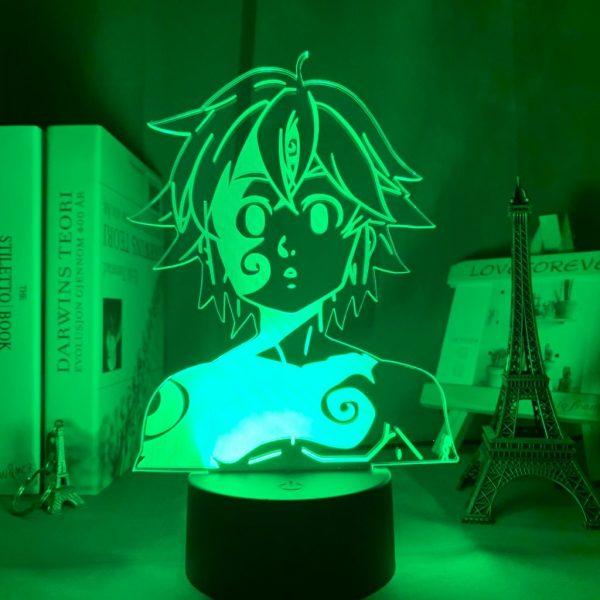 MELIODAS LED ANIME LAMP (SEVEN DEADLY SINS) Otaku0705 TOUCH Official Anime Light Lamp Merch