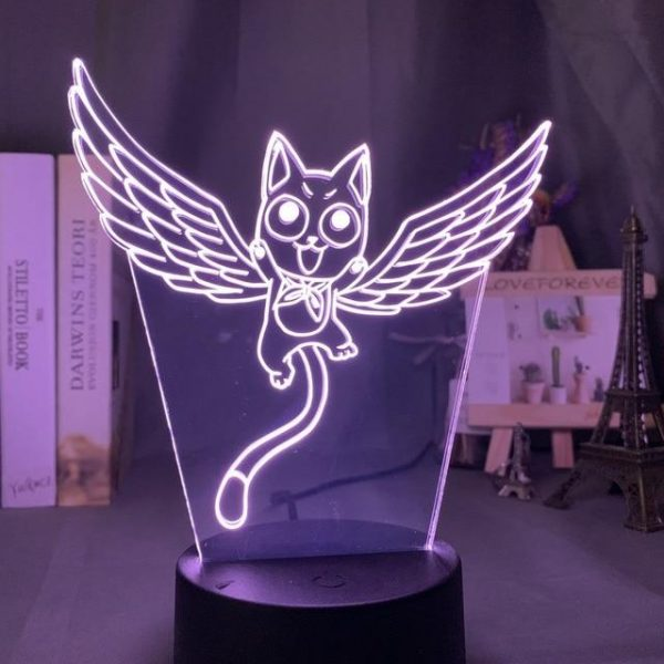 HAPPY LED ANIME LAMP (FAIRY TAIL) Otaku0705 TOUCH +(REMOTE) Official Anime Light Lamp Merch