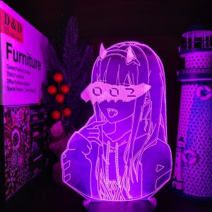 ZERO TWO 002 LED ANIME LAMP (DARLING IN FRANXX) Otaku0705 TOUCH +(REMOTE) Official Anime Light Lamp Merch