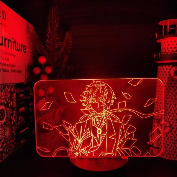 DAZAI'S REIGN LED ANIME LAMP (BUNGO STRAY DOGS) Otaku0705 TOUCH Official Anime Light Lamp Merch