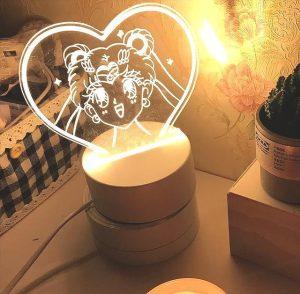 HAPPY USAGI LED ANIME LAMP (SAILOR MOON) Otaku0705 TOUCH +(REMOTE) Official Anime Light Lamp Merch