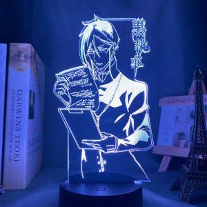 SEBASTIAN READING LED ANIME LAMP (BLACK BUTLER) Otaku0705 TOUCH +(REMOTE) Official Anime Light Lamp Merch
