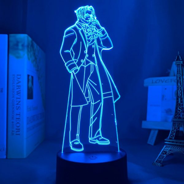 MILES EDGEWORTH LED ANIME LAMP (ACE ATTORNEY) Otaku0705 TOUCH +(REMOTE) Official Anime Light Lamp Merch
