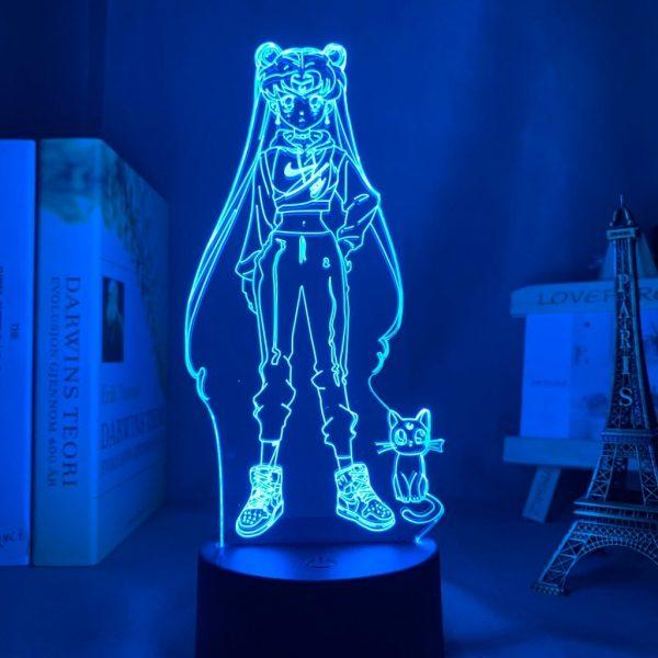 USAGI TSUKINO AND LUNA LED ANIME LAMP (SAILOR MOON) Otaku0705 TOUCH Official Anime Light Lamp Merch
