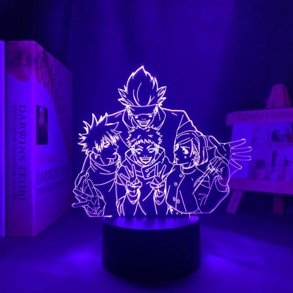 TEAM GOJO LED ANIME LAMP (JUJUTSU KAISEN) Otaku0705 TOUCH Official Anime Light Lamp Merch