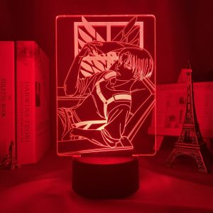RELAX LEVI LED ANIME LAMP (ATTACK ON TITAN) Otaku0705 TOUCH +(REMOTE) Official Anime Light Lamp Merch