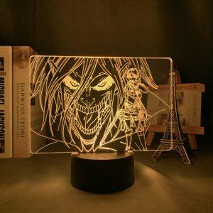 EREN X TITAN FORM LED ANIM LAMP (ATTACK ON TITAN) Otaku0705 TOUCH +(REMOTE) Official Anime Light Lamp Merch