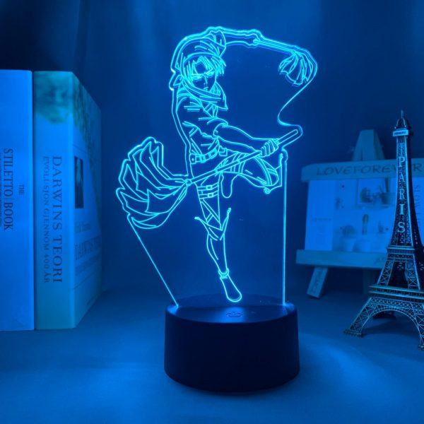 MOPPING LEVI LED ANIME LAMP (ATTACK ON TITAN) Otaku0705 TOUCH +(REMOTE) Official Anime Light Lamp Merch
