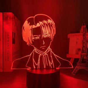 SLICK LEVI LED ANIME LAMP (ATTACK ON TITAN) Otaku0705 TOUCH +(REMOTE) Official Anime Light Lamp Merch